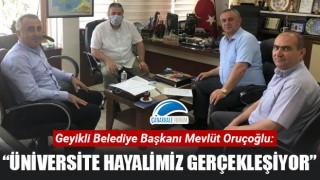 """Başkan Oruçoğlu: """"Üniversite hayalimiz gerçekleşiyor"""""""