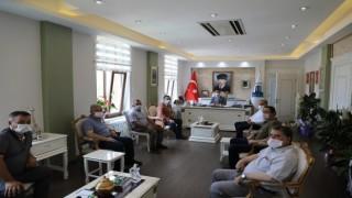 Çanakkale Esnaf ve Sanatkarlar Odaları Birliği'nden Vali İlhami Aktaş'a hayırlı olsun ziyareti