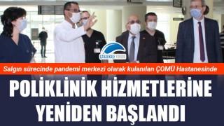 ÇOMÜ Hastanesinde poliklinik hizmetlerine yeniden başlandı