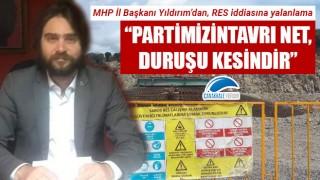 """MHP'li Yıldırım'dan, 'RES' iddiasına yalanlama: """"Partimizin tavrı net, duruşu kesindir"""""""