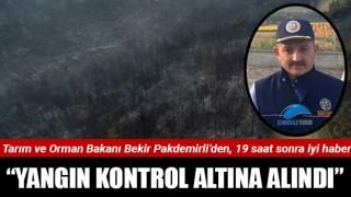 """Bakan Pakdemirli: """"Yangın kontrol altına alındı"""""""