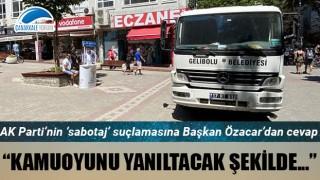 AK Parti'nin 'sabotaj' suçlamasına Başkan Özacar'dan cevap