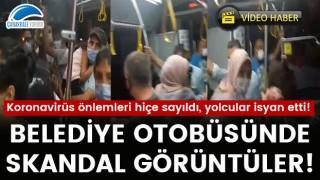 Belediye otobüsünde skandal görüntüler!