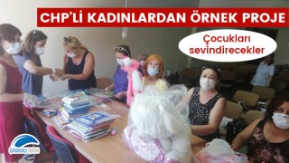 CHP'li kadınlardan örnek proje: Çocukları sevindirecekler