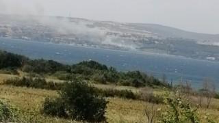 Gelibolu'da orman yangını!