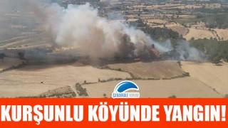 Kurşunlu köyünde yangın!