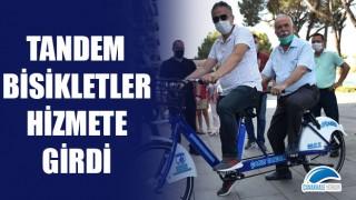 Tandem bisikletler hizmete girdi