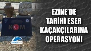 Tarihi eser kaçakçıları Ezine'de yakayı ele verdi!