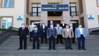 AK Parti'li başkanlardan, Vali Aktaş'a ziyaret