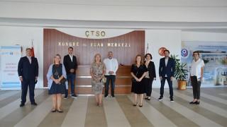 Başkonsoloslardan, ÇTSO'ya ziyaret