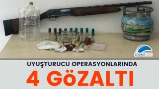 Çanakkale'deki uyuşturucu operasyonlarında 4 gözaltı!