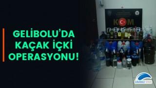 Gelibolu'da kaçak içki operasyonu!