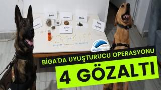 Biga'da uyuşturucu operasyonu: 4 gözaltı