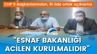 """CHP'den 81 ilde ortak açıklama: """"Esnaf Bakanlığı acilen kurulmalıdır"""""""