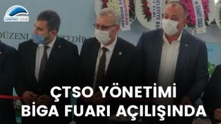 ÇTSO Yönetimi, Biga Fuarı açılışında