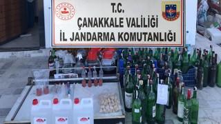 Ezine'de kaçak içki satışı yapan şüpheliye suçüstü!