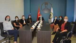 Kadın girişimcilerden, yeni OSB yönetimine ziyaret