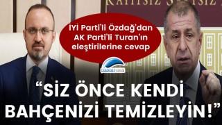 """Ümit Özdağ'dan, Bülent Turan'a cevap: """"Siz önce kendi bahçenizi temizleyin!"""""""