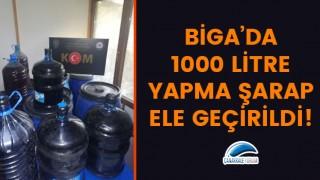 Biga'da 1000 litre yapma şarap ele geçirildi!