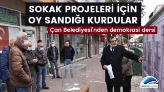 Çan Belediyesi'nden demokrasi dersi: Sokak projeleri için oy sandığı kurdular