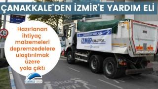 Çanakkale'den İzmir'e yardım eli