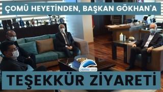 ÇOMÜ heyetinden, başkan Gökhan'a teşekkür ziyareti