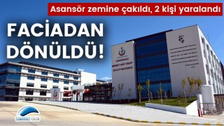 Devlet Hastanesinde faciadan dönüldü: Asansör zemine çakıldı, 2 kişi yaralandı!