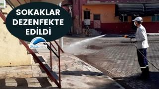 Fevzipaşa Mahallesi'nde sokaklar dezenfekte edildi