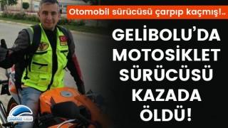Gelibolu'da motosiklet sürücüsü kazada öldü!