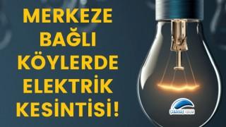 Merkeze bağlı köylerde elektrik kesintisi!