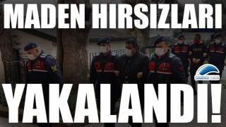 Ayvacık'ta maden ocağını soyan hırsızlar yakalandı!