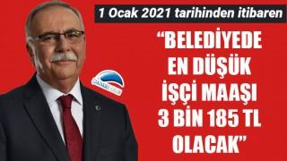 """Başkan Gökhan: """"Belediyede en düşük işçi maaşı 3 bin 185 TL olacak"""""""