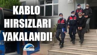 Çanakkale'de kablo hırsızları yakalandı!