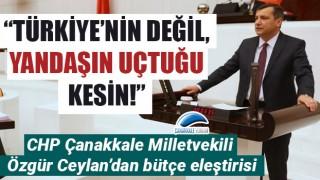 """CHP'li Ceylan'dan bütçe eleştirisi: """"Türkiye'nin değil, yandaşın uçtuğu kesin!"""""""