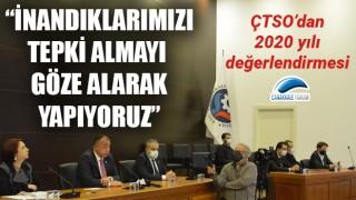 """ÇTSO'dan 2020 yılı değerlendirmesi: """"İnandıklarımızı tepki almayı göze alarak yapıyoruz"""""""