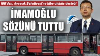 İmamoğlu sözünü tuttu: İBB'den, Ayvacık Beldiyesi'ne hibe otobüs desteği