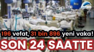 Son 24 saatte 196 vefat, 31 bin 896 yeni vaka!