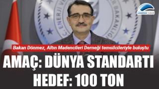 Amaç: Dünya standartı, hedef: 100 ton