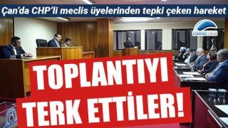 Çan'da CHP'li meclis üyelerinden tepki çeken hareket!