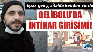 Gelibolu'da intihar girişimi: İşsiz genç herkesin önünde silahla kendini vurdu!
