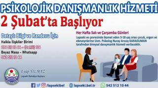 Lapseki Belediyesi'nden çocuklar ve gençlere yönelik psikolojik danışmanlık hizmeti