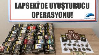 Lapseki'de uyuşturucu operasyonu!