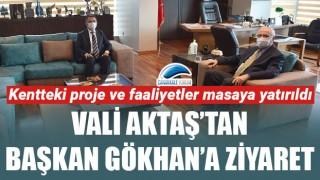 Vali Aktaş'tan, Başkan Gökhan'a ziyaret
