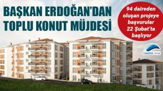 Başkan Erdoğan'dan toplu konut müjdesi