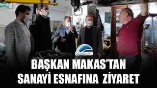 BaşkanMakas'tan sanayi esnafına ziyaret