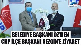 Belediye Başkanı Öz'den, CHP İlçe Başkanı Sezgin'e ziyaret