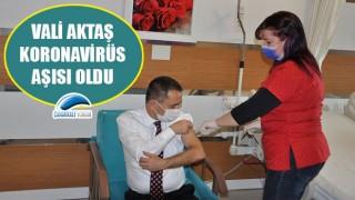 Vali Aktaş, koronavirüs aşısı oldu