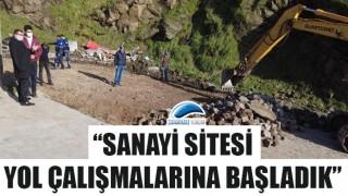 """Başkan Öz: """"Sanayi Sitesi yol çalışmalarına başladık"""""""