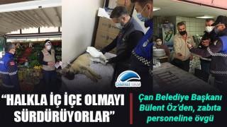 Başkan Öz'den zabıta personeline övgü