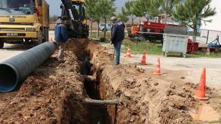 Bayramiç Belediyesi, yağmur suyu hattı çalışmalarını hızlandırdı